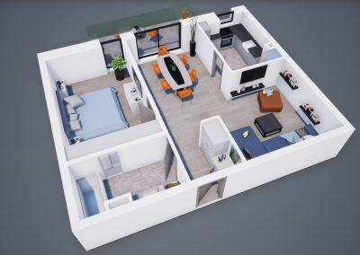 3D corp A apt tip 2H 001 - Aviatorii Residence