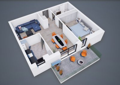 3D corp A apt tip 2H 002 - Aviatorii Residence
