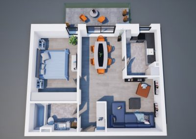 3D corp A apt tip 2H 003 - Aviatorii Residence