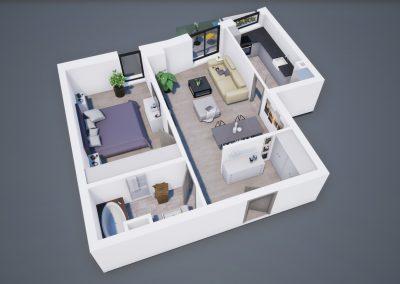 3D corp A apt tip 2I 001 - Aviatorii Residence