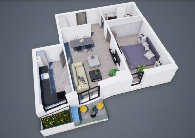 3D corp A apt tip 2I 002 - Aviatorii Residence