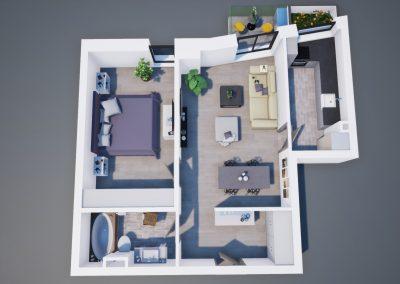 3D corp A apt tip 2I 003 - Aviatorii Residence