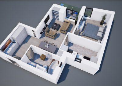 3D corp A apt tip 2J 001 - Aviatorii Residence