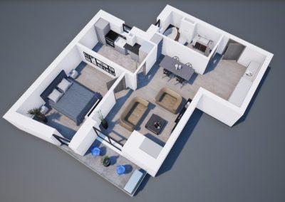 3D corp A apt tip 2J 002 - Aviatorii Residence