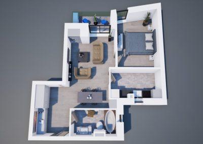 3D corp A apt tip 2J 003 - Aviatorii Residence