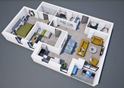 3D corp A apt tip 3A 001 - Aviatorii Residence