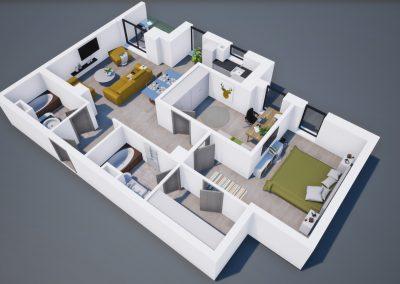 3D corp A apt tip 3A 002 - Aviatorii Residence