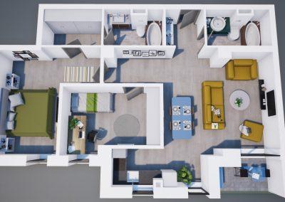 3D corp A apt tip 3A 003 - Aviatorii Residence