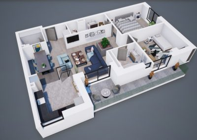 3D corp A apt tip 3B 002 - Aviatorii Residence