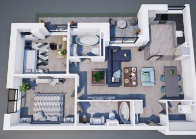 3D corp A apt tip 3B 003 - Aviatorii Residence - Aviatorii Residence