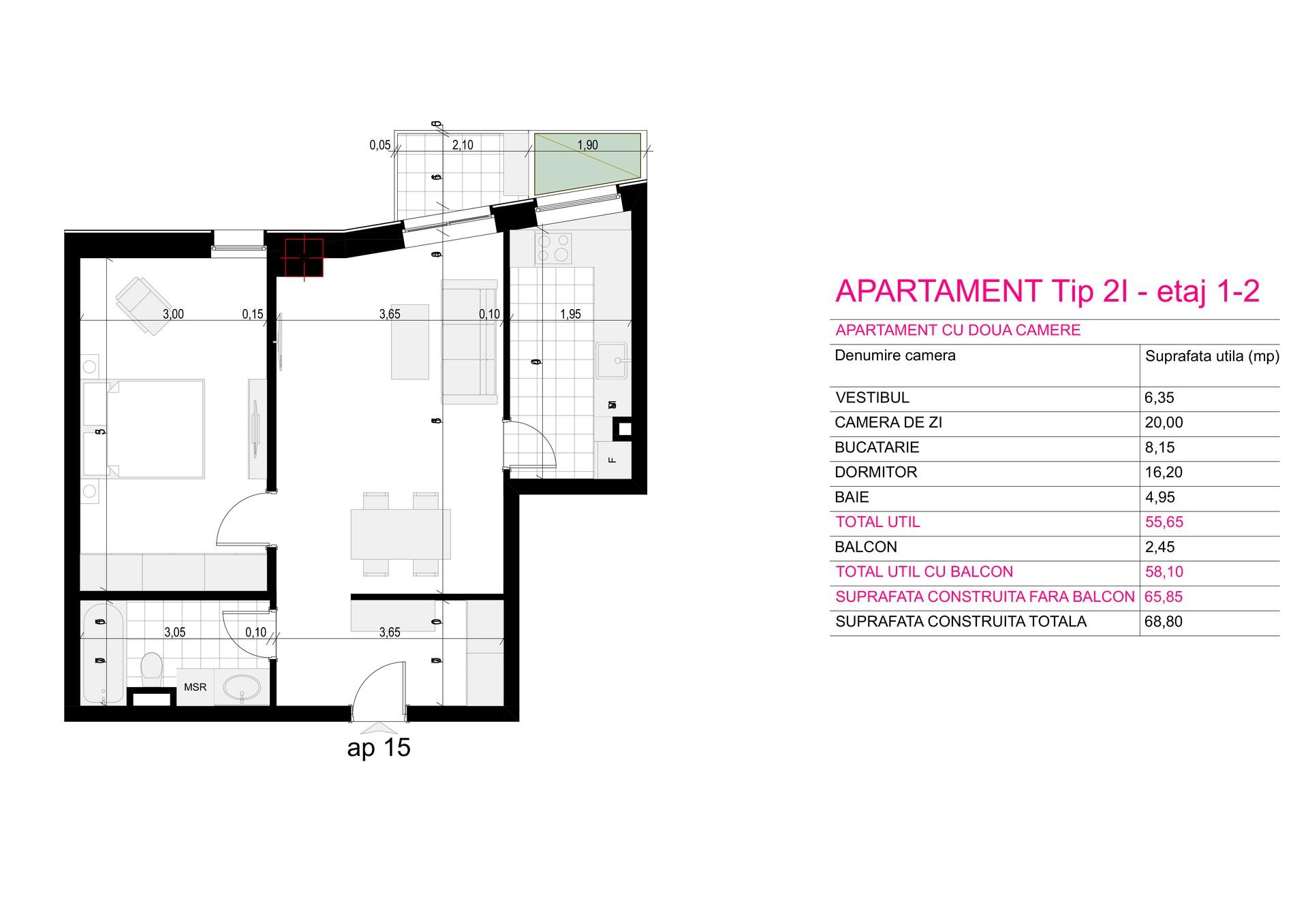 Ap Corp A Tip 2I etaj 1-2 - Aviatorii Residence