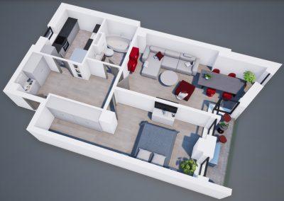 Aviatorii Residence III 3D apartament 1 001